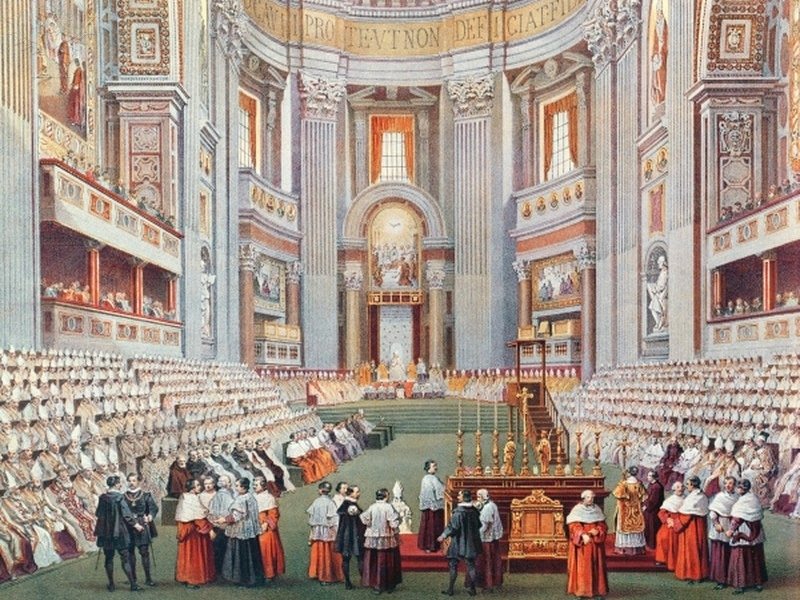 first vatican council First vatican council the vatican council (latin: concilium vaticanum primum) was convoked by pope pius ix on 29 june 1868, after a period of planning and preparation that began on 6 december 1864.