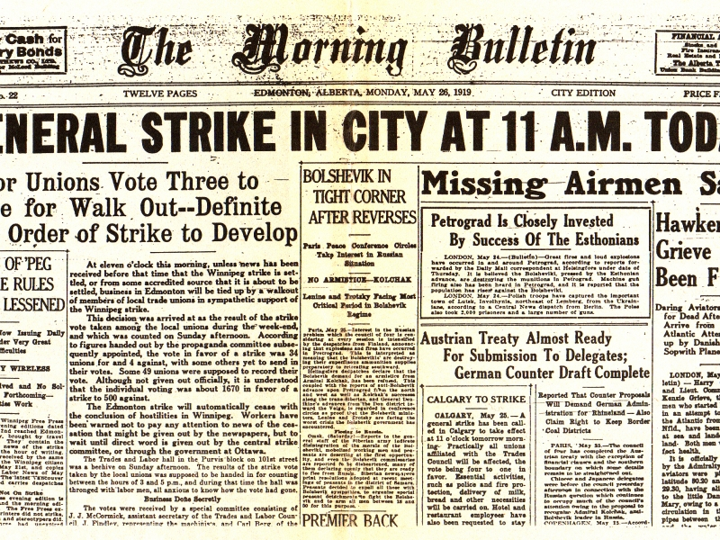 the winnipeg general strike The winnipeg general strike of 1919 was one of the most influential strikes in canadian history, and became the platform for future labour reforms massive unemployment and inflation, dismal wages and working conditions, and the success of the russian revolution all contributed to labour unrest at the time.